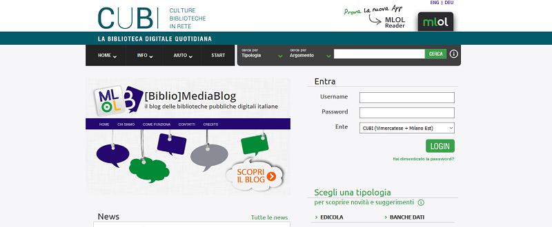Homepage MLOL